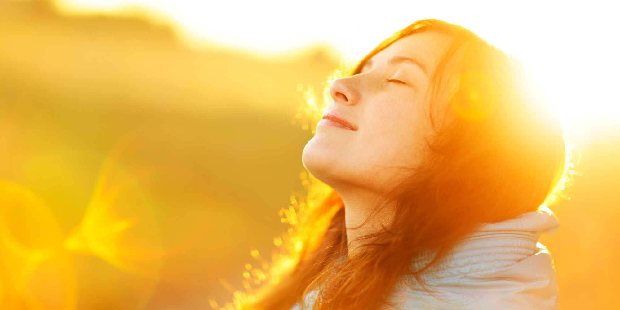 girl facing the sun